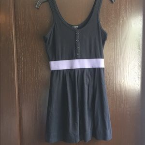 Banana republic black and purple cotton dress XS